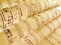Rolled up sheet music